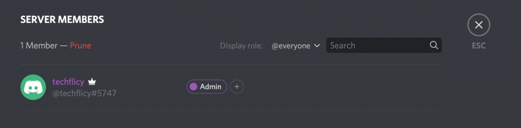 change admin username color in discord