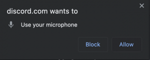 click allow to discord mic
