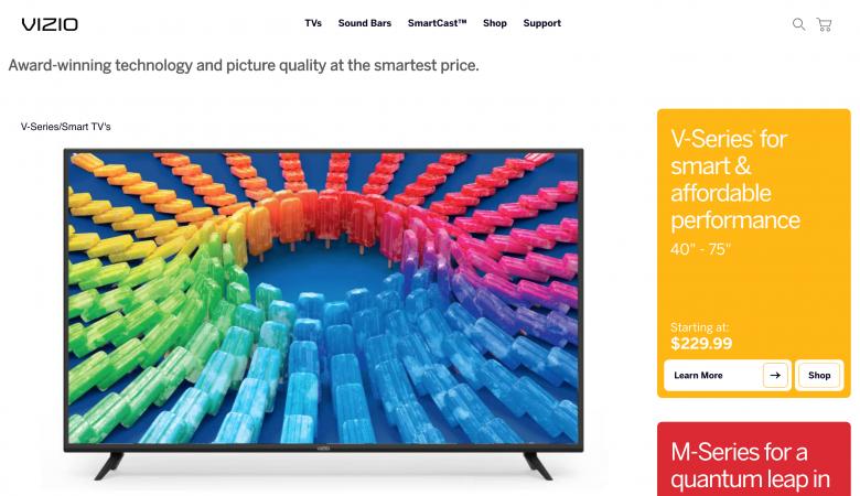 Vizio Smartcast TV not available