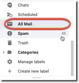all mails gmail